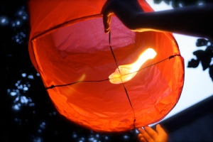 Launching My DIY Sky Lantern